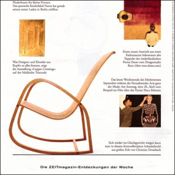 2014 Schaukelstuhl Christian Drossbach ZEITMagazin Vorschau